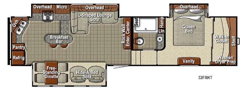 Floorplan - 2016 Yellowstone RV Sedona 32FRKT Advanced Profile