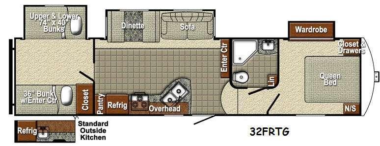 Sedona 32FRTG SLT Floorplan Image