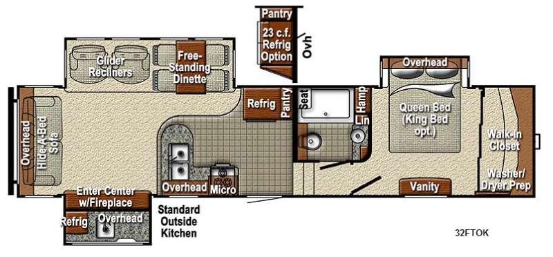 Sedona 32FTOK Advanced Profile Floorplan Image