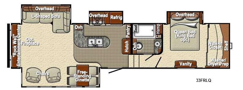Sedona 33FRLQ Advanced Profile Floorplan Image