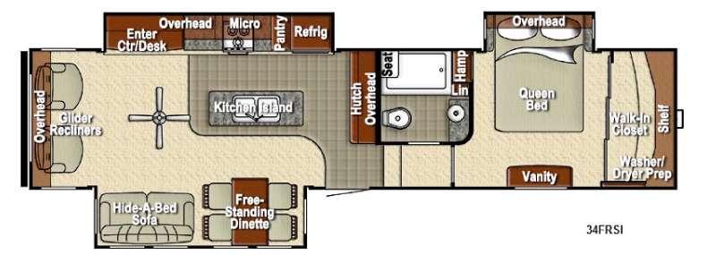 Sedona 34FRSI Advanced Profile Floorplan Image