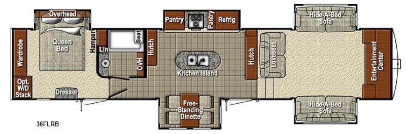 Sedona 36FLRB Advanced Profile Floorplan Image