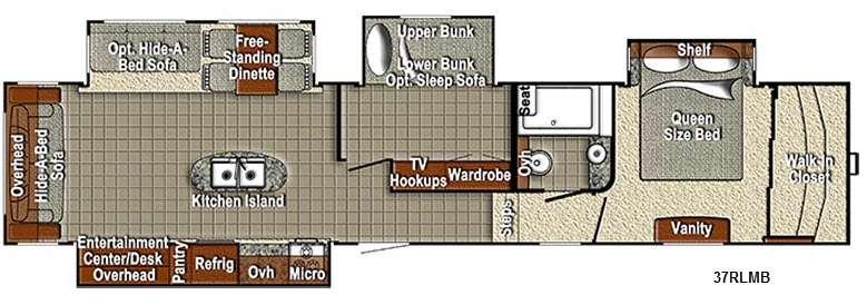 Sedona 37RLMB Advanced Profile Floorplan Image