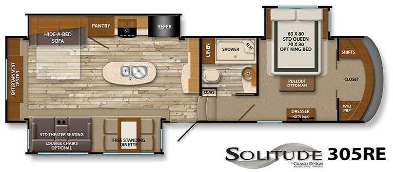 Floorplan - 2016 Grand Design Solitude 305RE
