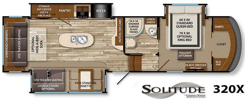 Floorplan - 2016 Grand Design Solitude 320X