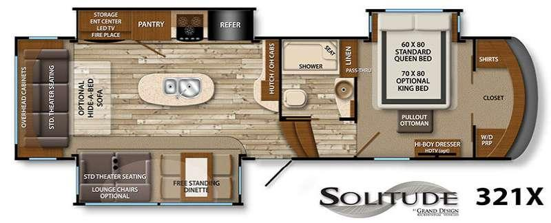 Floorplan - 2016 Grand Design Solitude 321X