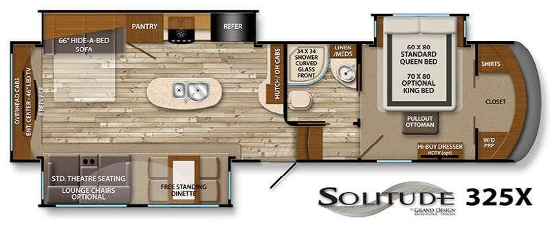 Solitude 325X Floorplan Image