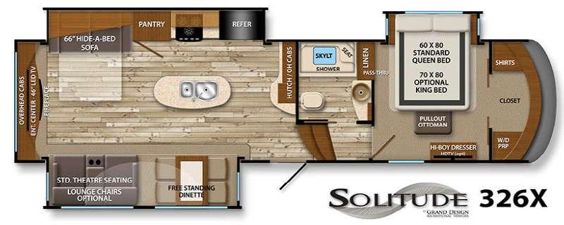 Floorplan - 2016 Grand Design Solitude 326X
