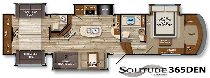 Floorplan - 2016 Grand Design Solitude 365DEN