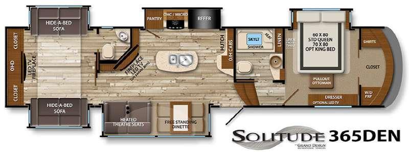Floorplan - 2016 Grand Design Solitude 365DEN
