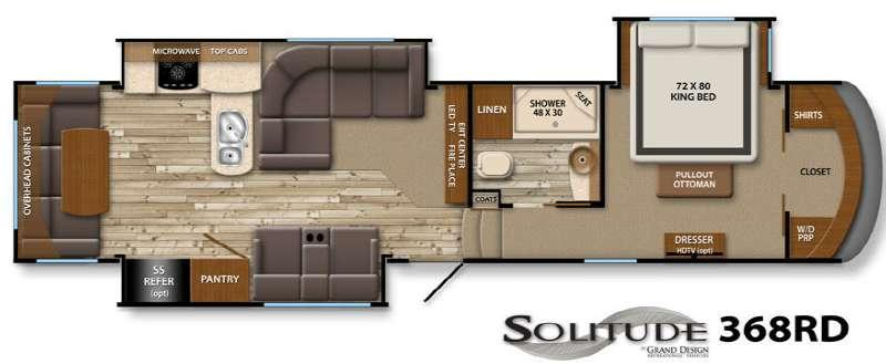 Floorplan - 2016 Grand Design Solitude 368RD