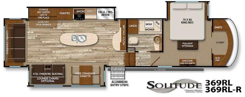 Floorplan - 2016 Grand Design Solitude 369RL