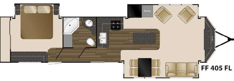 Floorplan - 2016 Heartland Fairfield 405FL