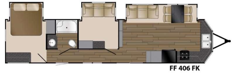 Floorplan - 2016 Heartland Fairfield 406FK