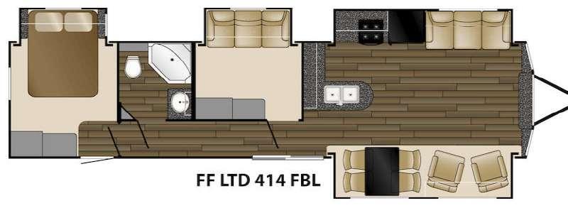 Floorplan - 2016 Heartland Fairfield 414FBL Limited