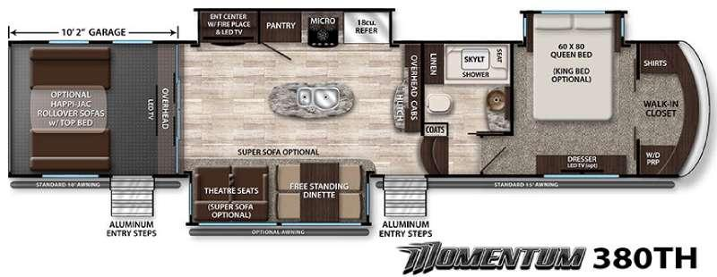 Floorplan - 2016 Grand Design Momentum 380TH