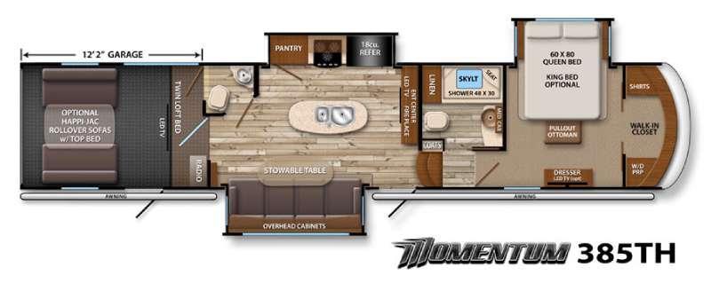 Momentum 385TH Floorplan Image