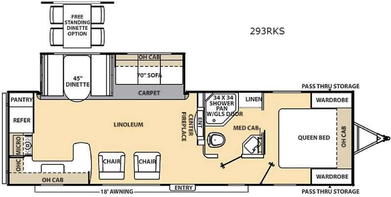 Floorplan - 2016 Coachmen RV Catalina 293RKS