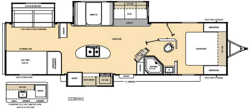 Floorplan - 2016 Coachmen RV Catalina 333BHKS