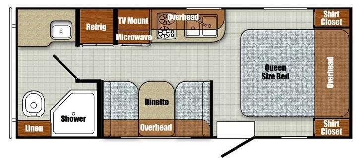 Floorplan - 2016 Gulf Stream RV Vista Cruiser 19RBS