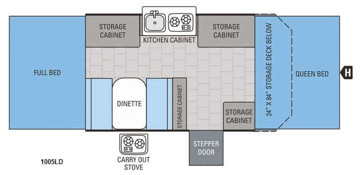 Jay Series 1005LD Floorplan Image