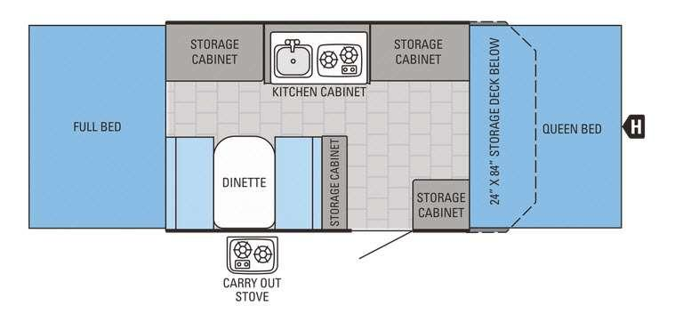 Jay Series 1005XR Floorplan Image