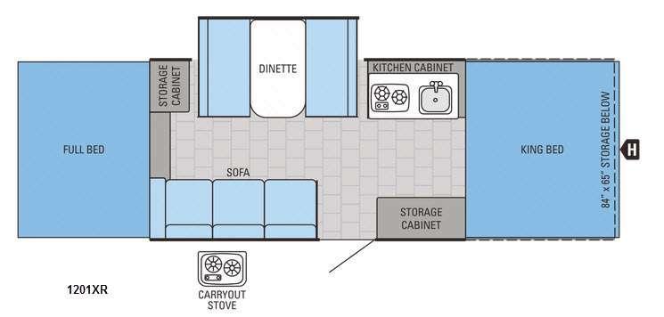 Jay Series 1201XR Floorplan Image
