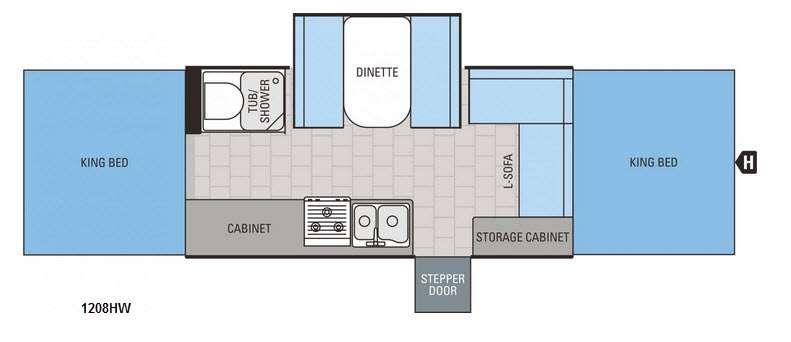 Jay Series 1208HW Floorplan Image