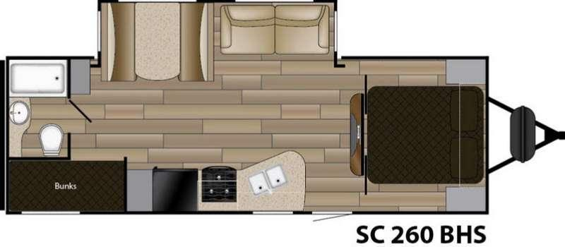 Floorplan - 2016 Cruiser Shadow S-260BHS