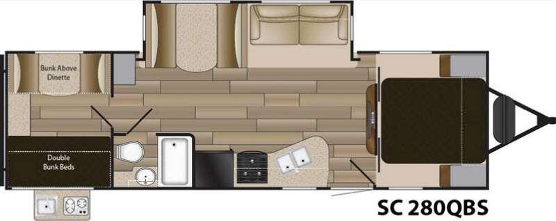 Floorplan - 2016 Cruiser Shadow S-280QBS