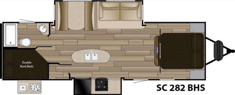 Floorplan - 2016 Cruiser Shadow S-282BHS