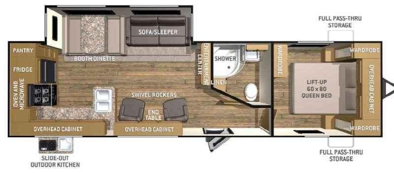 Floorplan - 2016 Cruiser Shadow S-288RKS