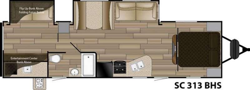 Floorplan - 2016 Cruiser Shadow S-313BHS