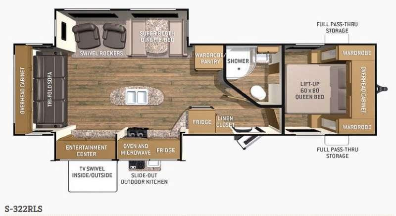 Floorplan - 2016 Cruiser Shadow S-322RLS