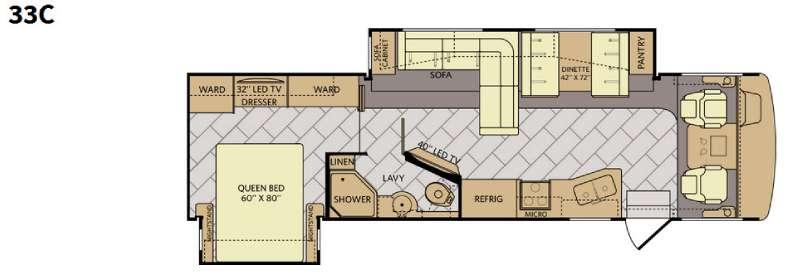 Floorplan - 2016 Fleetwood RV Bounder 33C