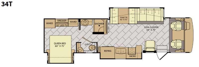Floorplan - 2016 Fleetwood RV Bounder 34T