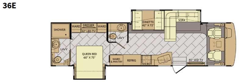 Floorplan - 2016 Fleetwood RV Bounder 36E
