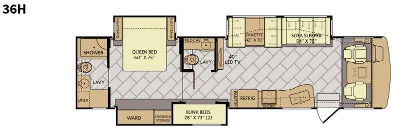 Bounder 36H Floorplan Image