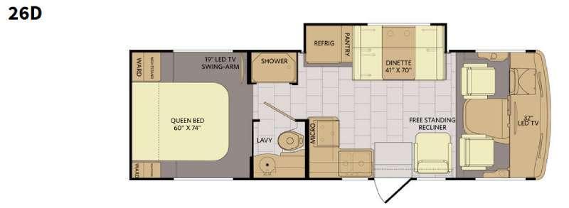 Floorplan - 2016 Fleetwood RV Flair 26D