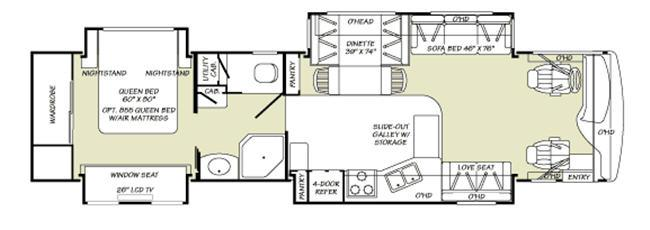 Floorplan - 2007 Fleetwood RV Discovery 39 L