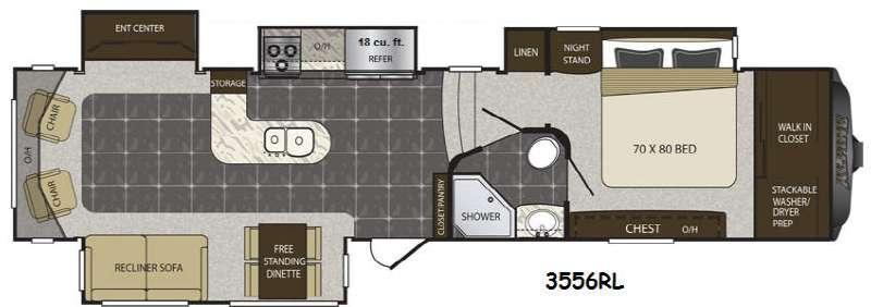 Floorplan - 2016 Keystone RV Alpine 3556RL