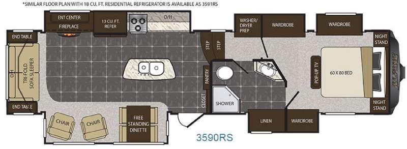 Floorplan - 2016 Keystone RV Alpine 3590RS