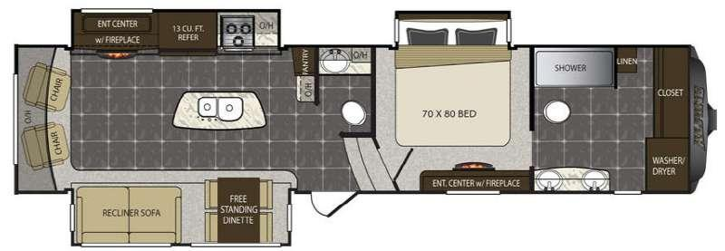 Floorplan - 2016 Keystone RV Alpine 3730