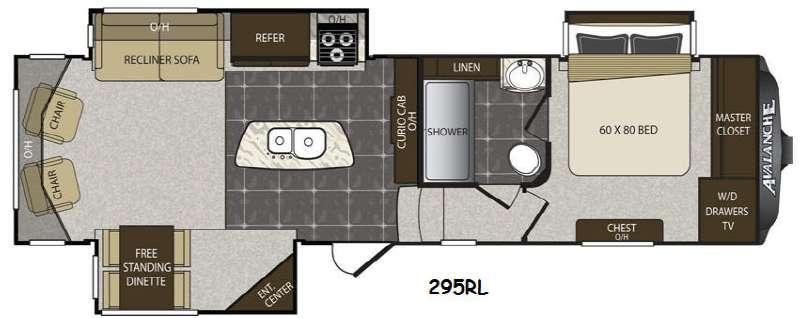 Avalanche 295RL Floorplan Image