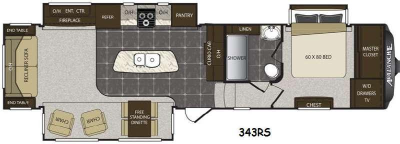 Avalanche 343RS Floorplan Image