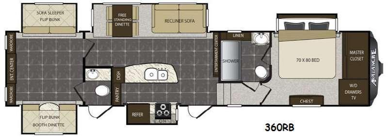 Avalanche 360RB Floorplan Image