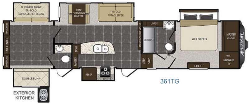 Avalanche 361TG Floorplan Image