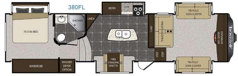 Avalanche 380FL Floorplan Image