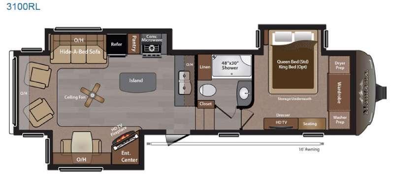 Montana 3100 RL Floorplan Image
