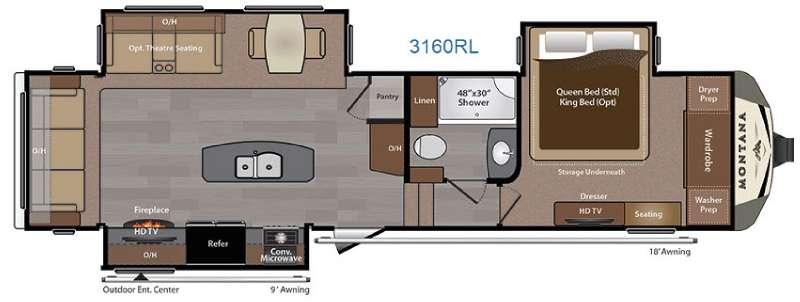 Montana 3160 RL Floorplan Image